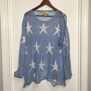 Wildfox Seeing Stars Sweater Blue